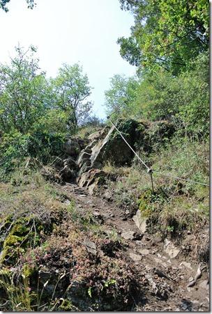 Traumpfad Hatzenporter Laysteig - Passage des Kletterpfades