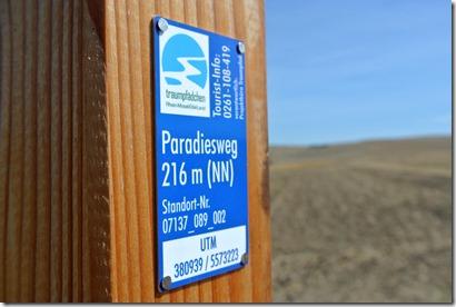 Traumpfädchen Paradiesweg - Wegemarke